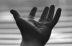 Hand Extended to help you with a drug and alcohol program