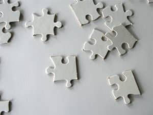 white on white Puzzle Pieces