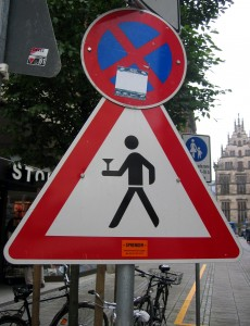 Crosswalk Drinking Sign